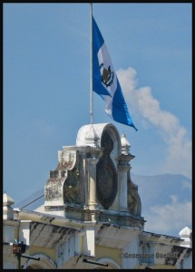 3811-Guatemala-flag-and-smoke-from-volcano-web